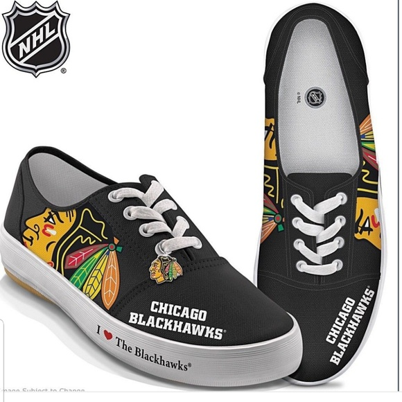 00b78d93d5ca77 NHL FAN Chicago Blackhawks Hockey shoes sneakers